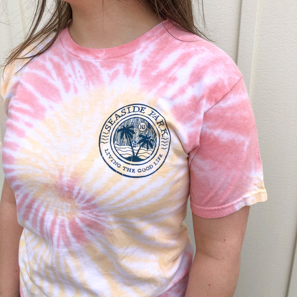 Seaside Park Palm Tree Tie Dye T-Shirt (Two Color Options)