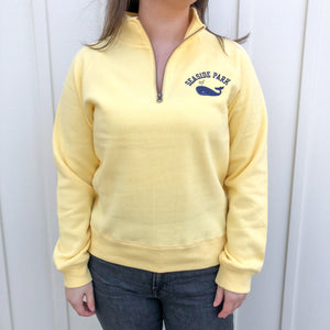 Seaside Park Yellow Whale Quarter Zip