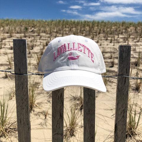Women's Lavallette Pink and White Whale Hat
