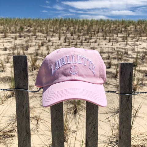 Women's Lavallette Pink and White Anchor Hat