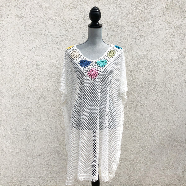 India Boutique Over Sized Crochet Cover Up (2 Color Options)