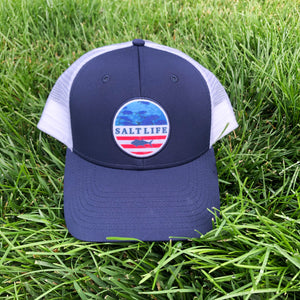 Salt Life Mens Red White & Blue Hat