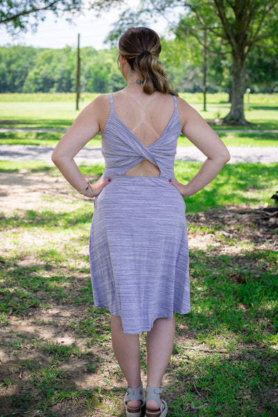 Lavender Cut out Dress