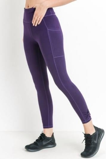 Don't worry be purple leggings