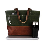 Carryall Tote in Olive Green