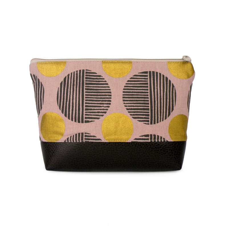 Cosmetic Clutch in Pink & Gold