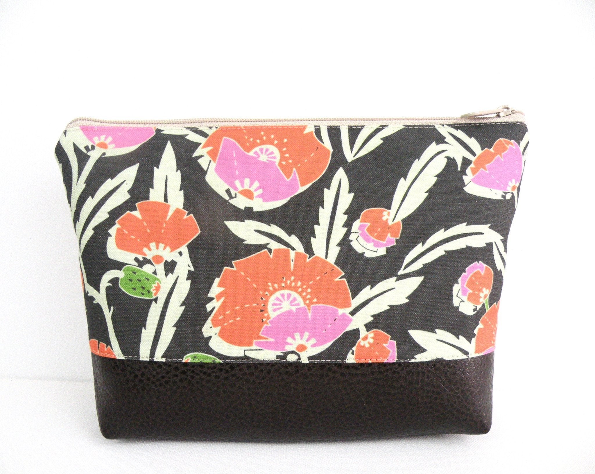 Cosmetic Clutch in Tropical Flower Print