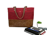 Carryall Tote in Red Waxed Canvas