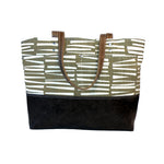 Carryall Tote in Cocoa Woodpile Print