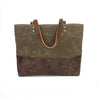 Carryall Tote in Chocolate Brown Waxed Canvas