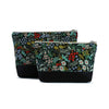 Cosmetic Clutch in Hunter Green Floral