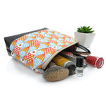 Cosmetic Clutch in Goldfish Linen