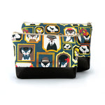 Cosmetic Clutch in Fox Face Print Linen