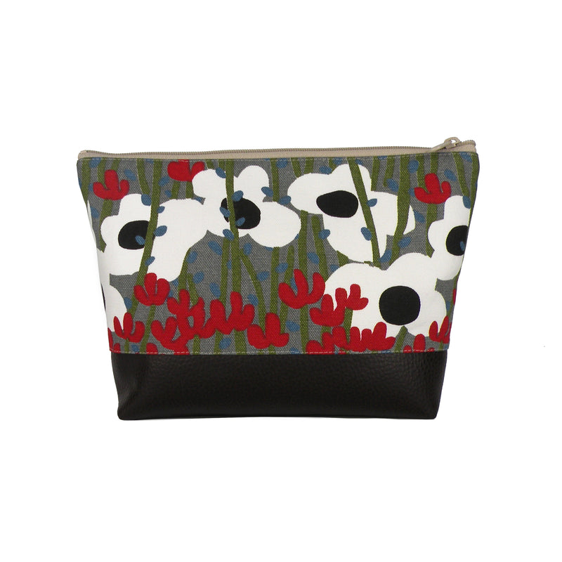 Cosmetic Clutch in Mod Grey Floral