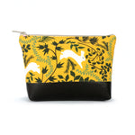 Cosmetic Clutch in Yellow Bunny