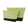 Cosmetic Clutch in Yellow Floral