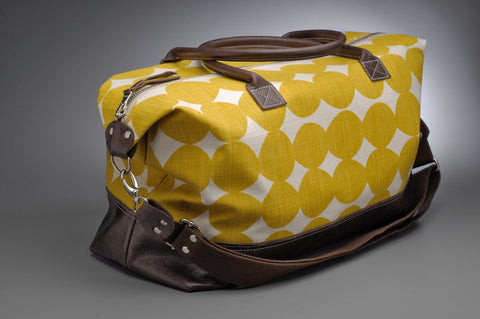 Weekender in Yellow Dots