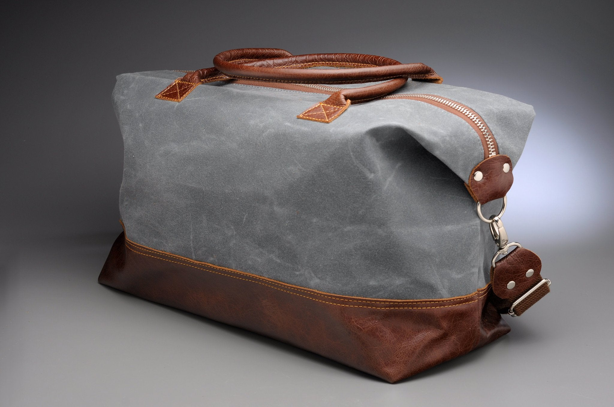 Weekender in Grey Waxed Canvas