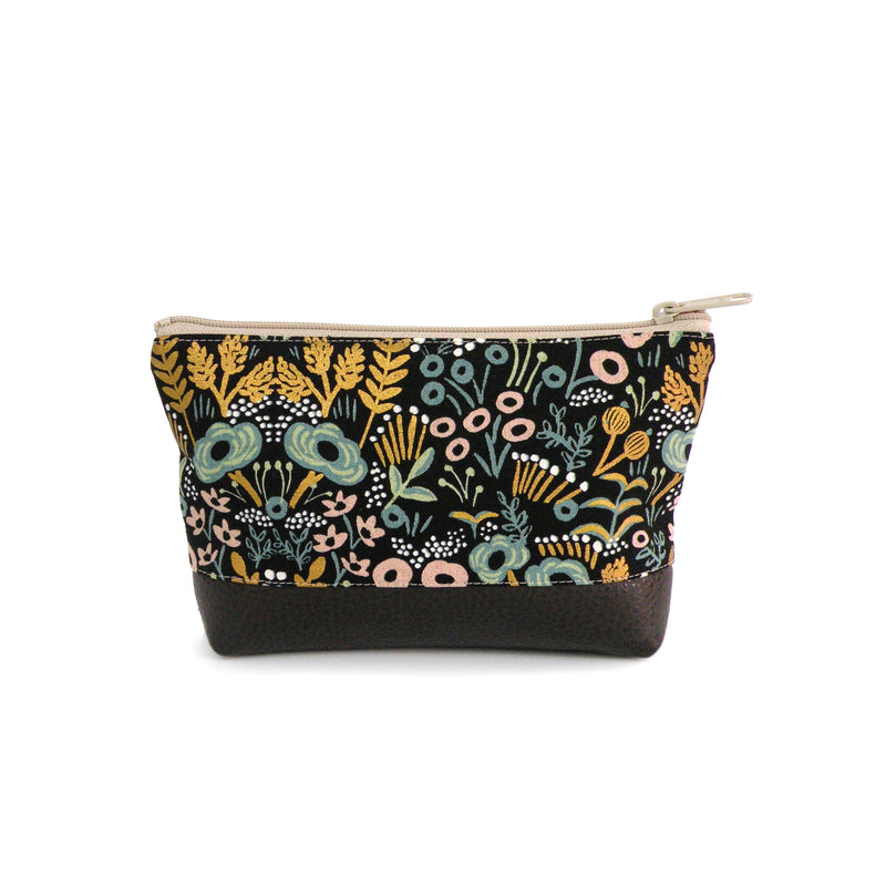 Cosmetic Clutch in Metallic Floral
