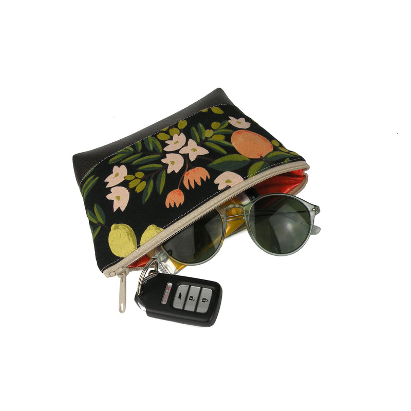 Cosmetic Clutch in Tuscan Floral