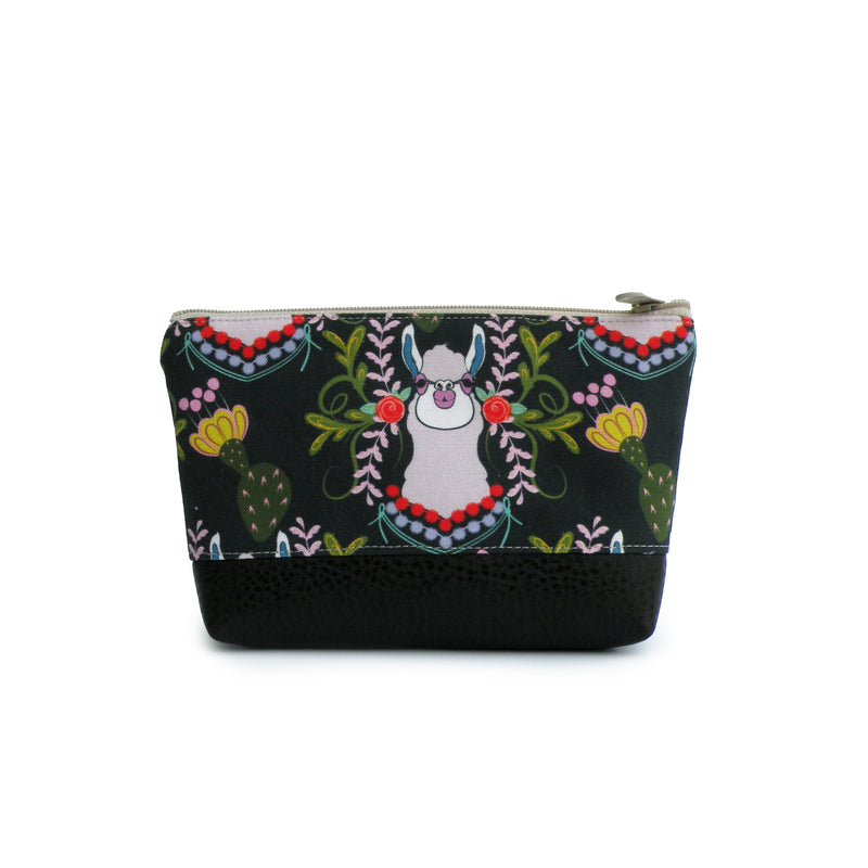 Cosmetic Clutch in Purple Alpacas