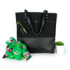 Urban Tote in Black Waxed Canvas and Black Leather