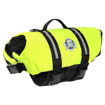 Paws Aboard Safety Neon Yellow Dog Lifejacket