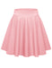 Women's Basic Versatile Stretchy A-line Flared Casual Mini Skater Skirt Solid Macaron Colors