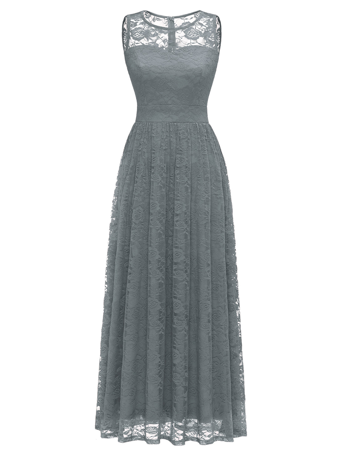 Wedtrend Women's Floral Lace Long Bridesmaid Dress Party Gown Style A