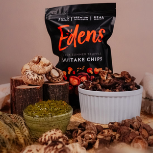 Black Summer Truffle Shiitake Chips (12 x 75g)