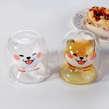 Load image into Gallery viewer, Shiba Inu Shaped Double Wall Glass Mug