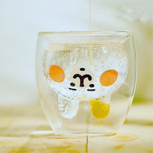Load image into Gallery viewer, Bunny Shaped Double Wall Glass Mug