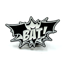 "Load image into Gallery viewer, BAT! - Glow in the Dark 1"" Enamel Pin"