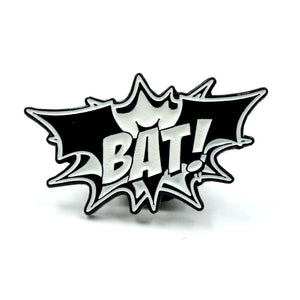 "BAT! - Glow in the Dark 1"" Enamel Pin"