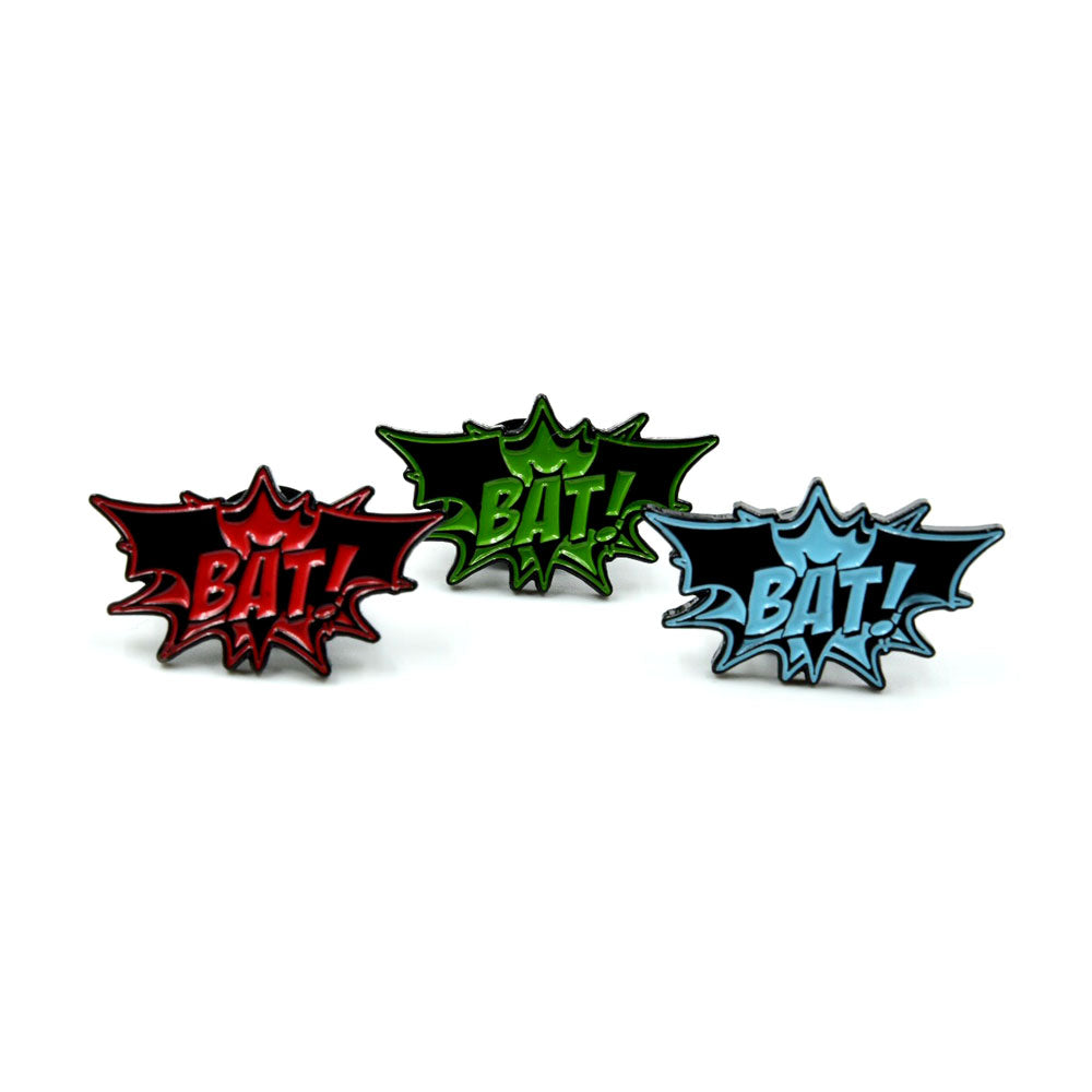 SET OF 3 MINI BAT! PINS