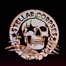 Load image into Gallery viewer, Stellar Corpses - Buster Enamel Pin (Glow in the Dark!)