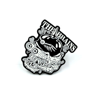 The Brains - Hell N Back Glow in the Dark Enamel Pin