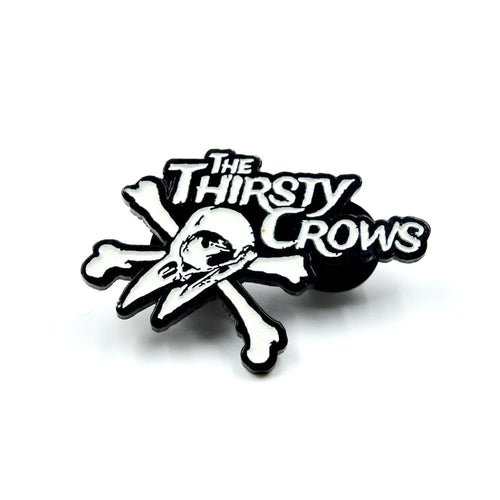 The Thirsty Crows - Glow in the Dark Enamel Pin