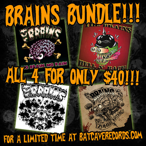 The Brains - First Four Albums CD Bundle