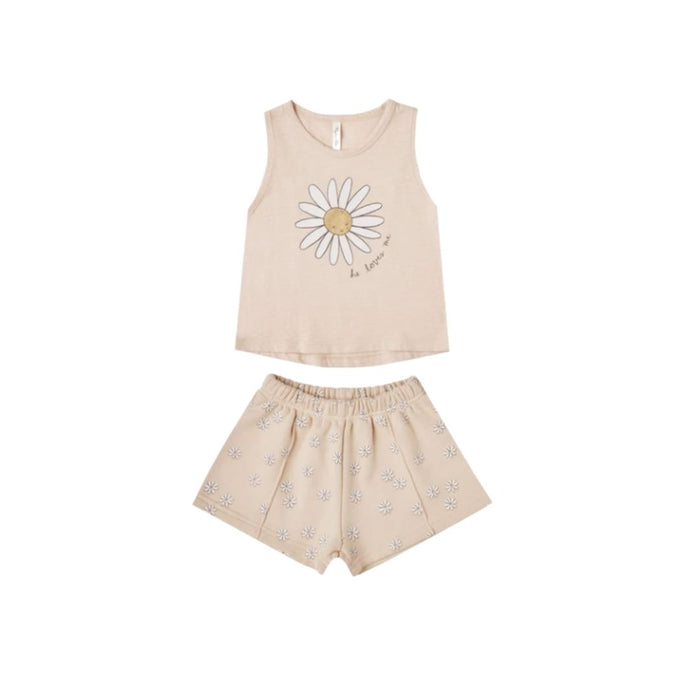 Rylee and Cru Daisy Tank and Shorts Set