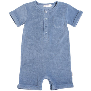 Miles Blue Terry Romper