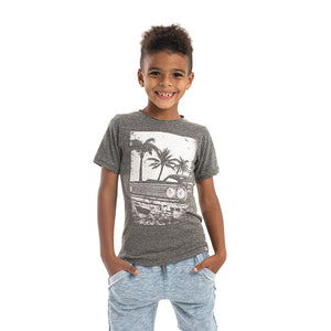 Appaman Graphic Tee Charcoal Palm