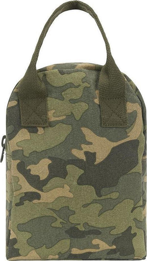 Fluf Camo Zippered Lunch Bag