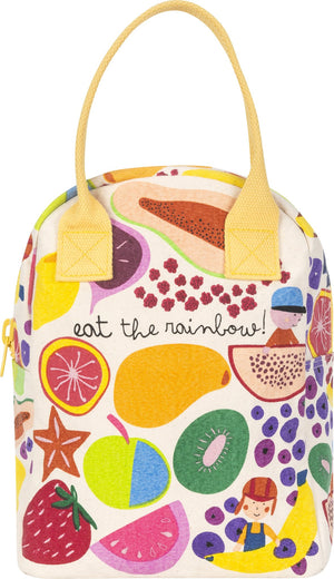 Fluf Eat the Rainbow Zippered Lunch Bag