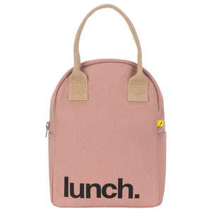 Fluf Mauve Zippered Lunch Bag