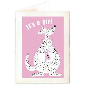 It's a Girl Mini Card