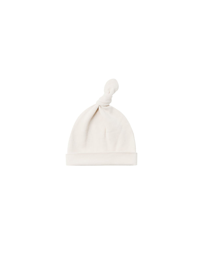 Quincy Mae Knotted Baby Hat Ivory