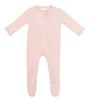 Kyte Baby Zippered Footie Blush