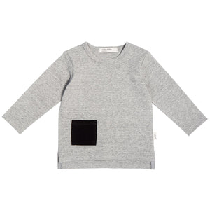 Miles Baby Long Sleeve Tee Heather Grey