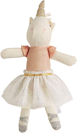 Mudpie Unicorn Rattle White